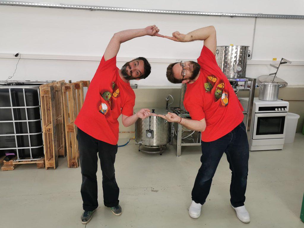 Chris et Marek de la Brasserie de Dinan