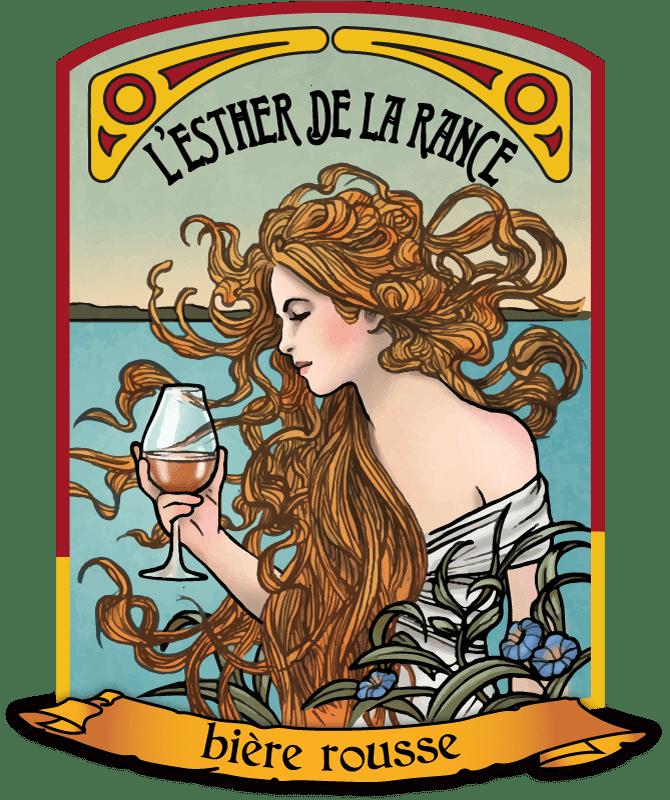 Visuel L'Esther de la Rance - bière rousse - La Brasserie de Dinan