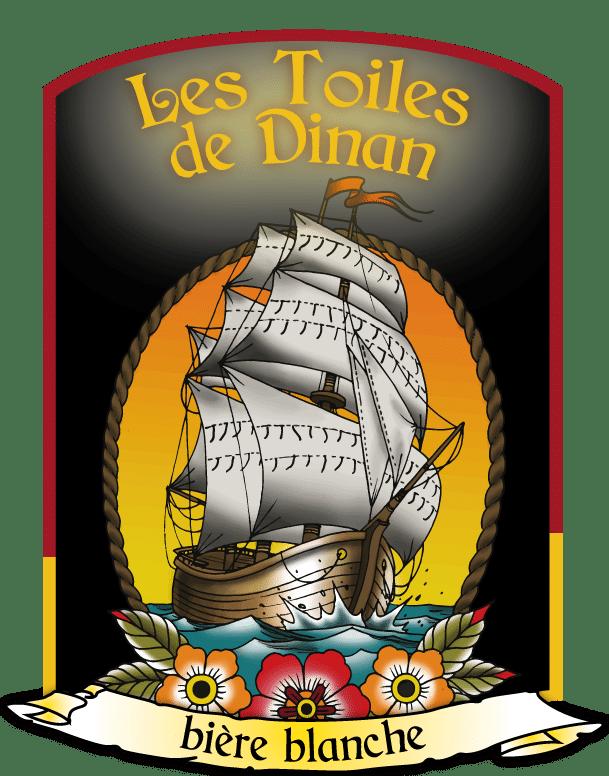 Visuel Les Toiles de Dinan - bière blanche - La Brasserie de Dinan