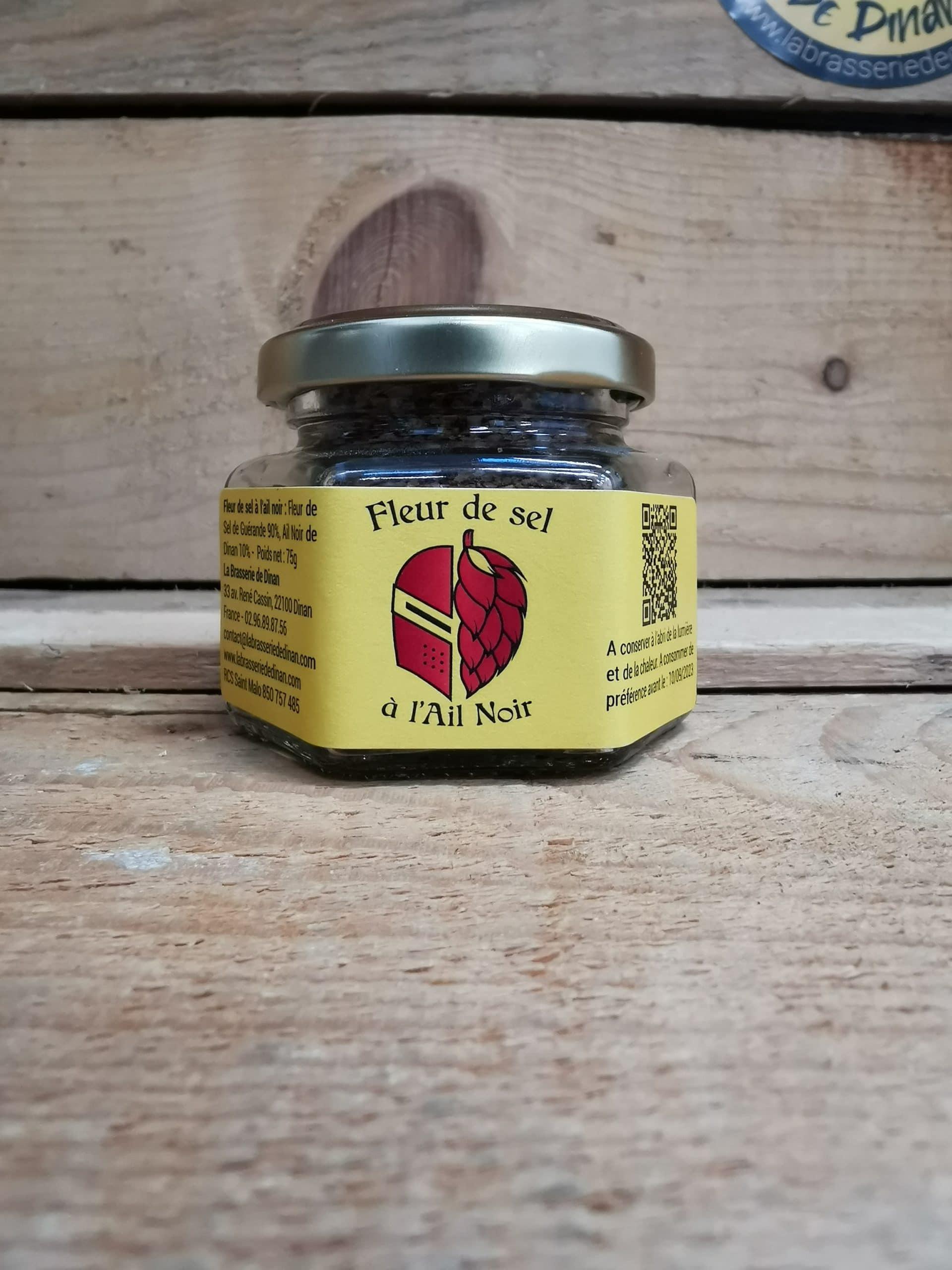 fleur de sel a l'ail noir - la ptite cuisine de la brasserie de dinan