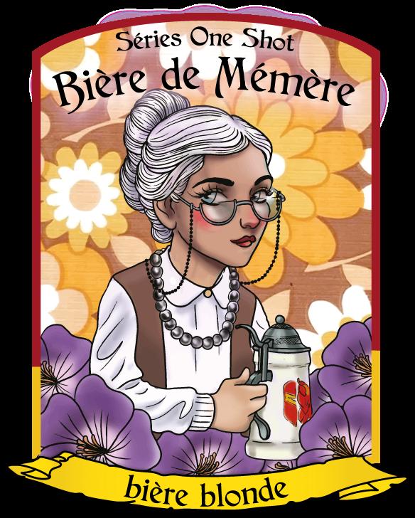 la bière de mémère - one shot 2021 - la brasserie de dinan - bière blonde